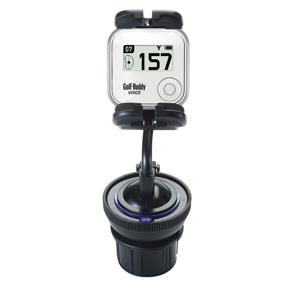 Flexible Golf Buddy Voice GPS Rangefinder Car / Truck Mounting System Features Both Cupholder and Flexible Windshield Suction Mounts