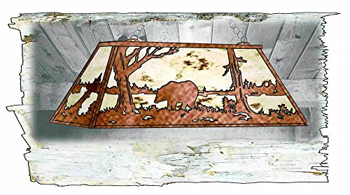 - Meyda Tiffany 51512 Bear at Lake Oblong Pendant Light Fixture, 60
