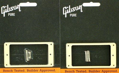 Gibson Pickup Mounting Ring Bridge and Neck Set Cream