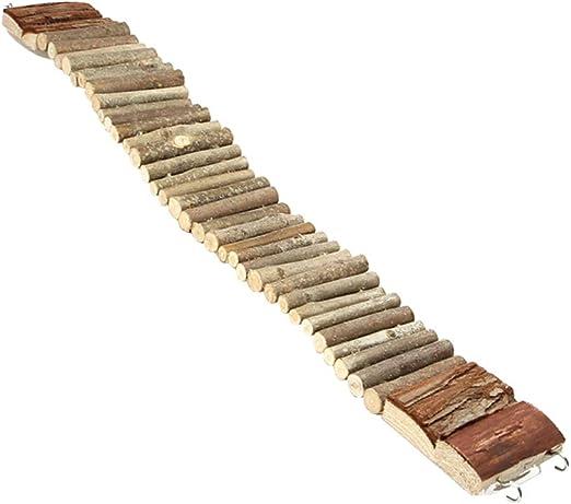 guojiwu Madera Escalera De Aves Loro Subida De Escaleras De Madera Puente Colgante De Mascar Permanente Swings Juguetes para Los Pequeño Mediano Loros 1PC 55cm: Amazon.es: Productos para mascotas