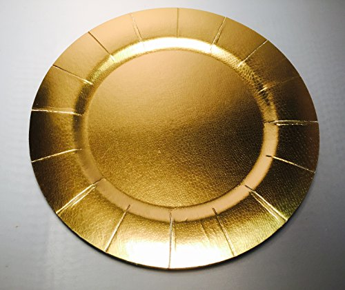 Set of 10 Gold Disposable Charger Plates 13\