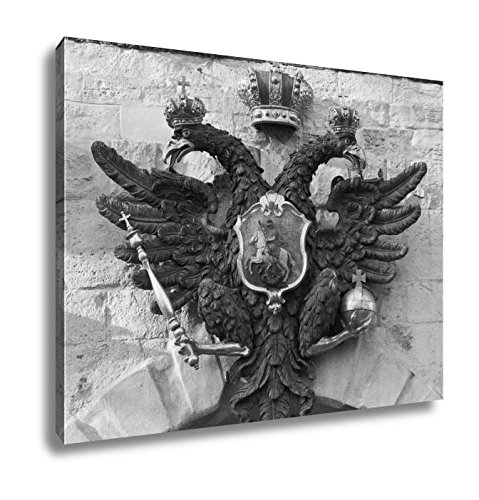 Ashley Clutch (Ashley Canvas The Coat Of Arms Of Russian Empire, Kitchen Bedroom Living Room Art, Black/White 24x30, AG6119116)