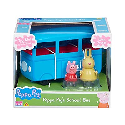 Peppa Pig School Bus With Sound & Figures: Toys & Games