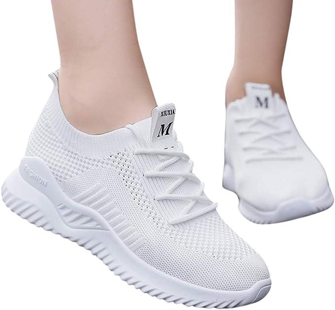 Berimaterry Zapatillas Deportivas Transpirables para Mujer, Calzado Deportivo de Exterior de Mujer Zapatilla de Deporte Deportivas de Mujer - Zapatos Sneakers Zapatillas Mujer Running Casual Yoga: Amazon.es: Ropa y accesorios