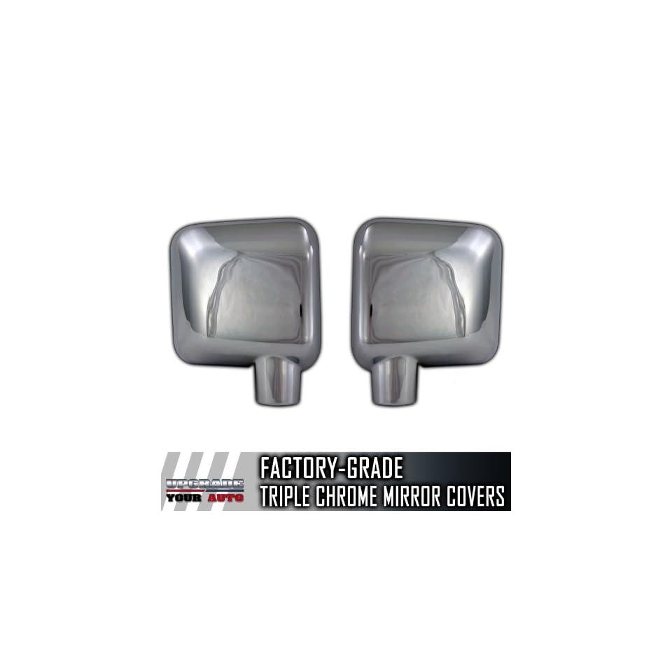 2007 2012 Jeep Wrangler Chrome Mirror Covers (Set of 2)