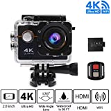 Sport Video Camera 4K WIFI Action Camera Waterproof Camera -hd 1080p, Bike Camera Underwarter Camera 4K with Multi Accessories for Snorkeling