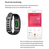 Fitness Tracker with Heart Rate, NPET IP67 Waterproof Smart Activity Tracker, Full Touch Screen Watch with Message Notification/Steps Counter/ Sleep Monitor/ Connected GPS Wristband for Android IOS
