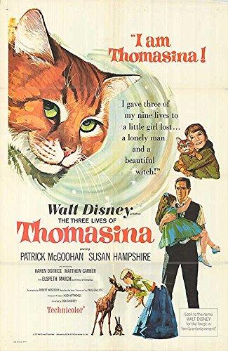"Three Lives of Thomasina - Authentic Original 27"" x 41"" Folded Movie Poster by MovieposterDotCom"