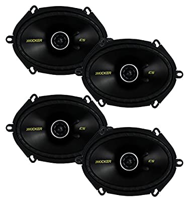 "4) New Kicker 40CS684 6x8"" 450W 2 Way Car Coaxial Speakers Stereo Audio CS684"