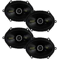 4) New Kicker 40CS684 6x8 450W 2 Way Car Coaxial Speakers Stereo Audio CS684