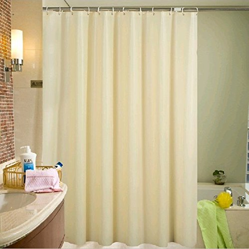 Ufelicity Modern Decor Environmental Shower Curtain Liner PEVA No More Mildews and Water Repellent with Metal Grommets, Solid Beige, 48 x 72 (Plastic Curtain Transparent)