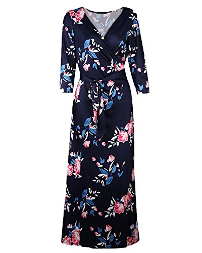 Buy belted faux wrap maxi dress - 3