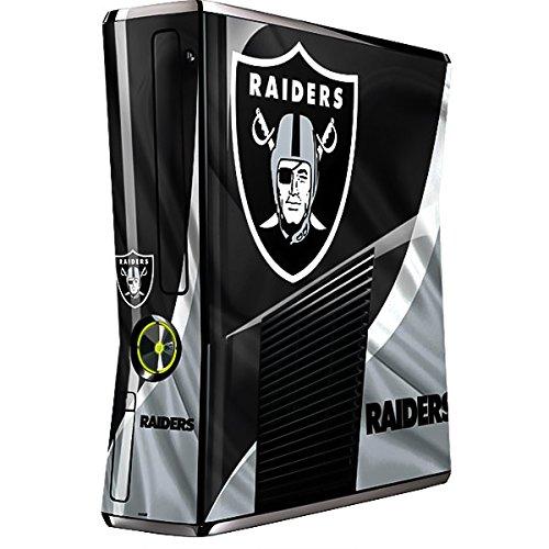 Skinit NFL Oakland Raiders Xbox 360 Slim (2010) Skin - Oakland Raiders Design - Ultra Thin, Lightweight Vinyl Decal Protection by Skinit