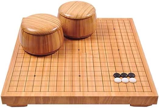 Go Juego de Mesa Go Set Weiqi Chino for Dos Jugadores Junta de Estrategia de Juego de 19 x 19 IR Fije Incluyen Cuencos: Amazon.es: Juguetes y juegos