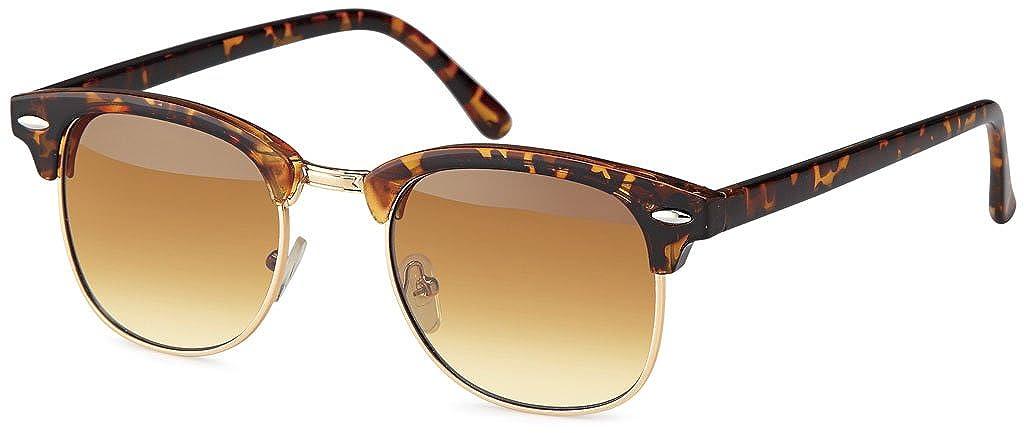 UVprotect retro Horn Optik Design Sonnenbrille - UV400 (Sortiert)