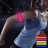 Higo LED Slap Bracelet, Armband for Running, Jogging, Cycling (Pink)