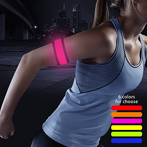 Higo LED Slap Bracelet, Armband for Running, Jogging, Cycling (Pink)