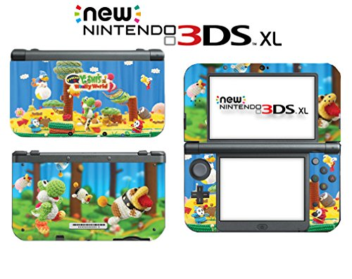 Poochy & Yoshi's Woolly World Island Beads Video Game Vinyl Decal Skin Sticker Cover for the New Nintendo 3DS XL LL 2015 System Console