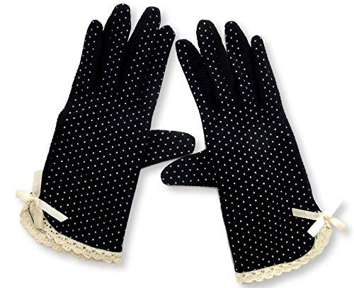 MiRii MeRii) 미리메리) UV 컷 장갑 10 종류 물방울 무늬 청량 + 손가락까지 미끄럼 방지