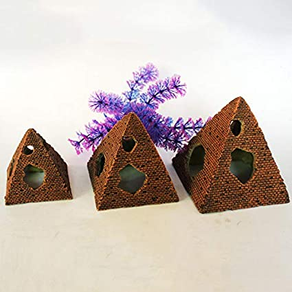 Outflower Retro Egyptien Pyramides Aquarium Ornements Mini Plante