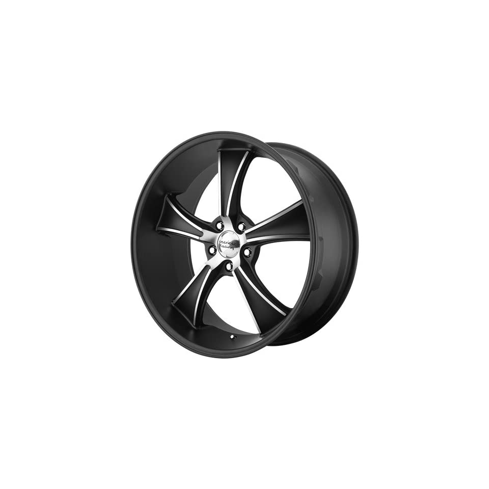 22x11 American Racing BLVD (Satin Black / Machined) Wheels/Rims 5x120 (VN80522149738)