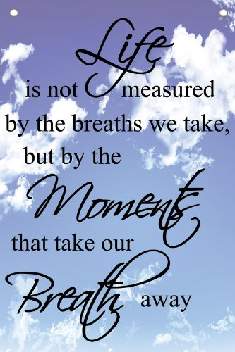 Life Is Not Measured By The Breaths We Take But By The Moments That
