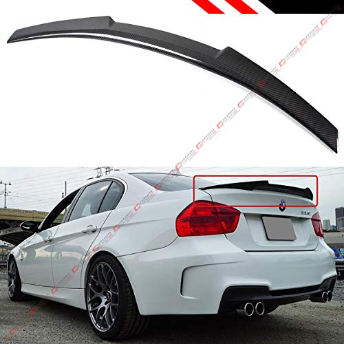 (Cuztom Tuning Fits for 2008-2012 BMW E90 M3 Sedan & 2006-2011 E90 3 Series Sedan V Type Carbon Fiber Trunk Spoiler Wing -M4 Style )
