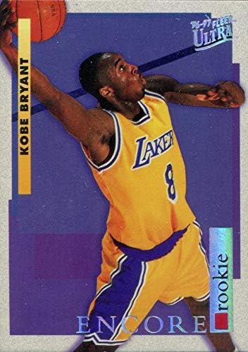 Kobe Bryant 1996-97 Fleer Ultra Encore Los Angeles Lakers Basketball Rookie Card RC #266