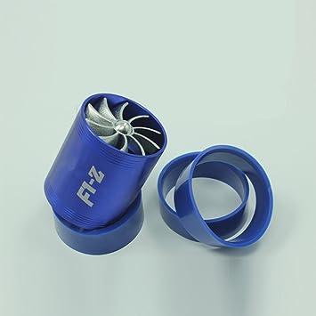ocamo Universal Entrada de aire doble Turbonator Turbo Fuel Gas Saver Tubo de inflado de aceleración: Amazon.es: Coche y moto