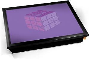 Kico Rubiks Cube Retro Game Cushion Lap Tray - Black Frame