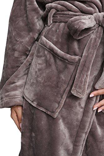 Wrapped In A Cloud Men's Plush Spa Bathrobe - Silver Linings Gray