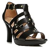 Naturalizer Women's Derive Sandal,Black Hispacho Leather,US 7 W