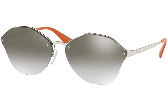 Amazon.com: Prada pr64ts anteojos de sol plata w/plata color ...