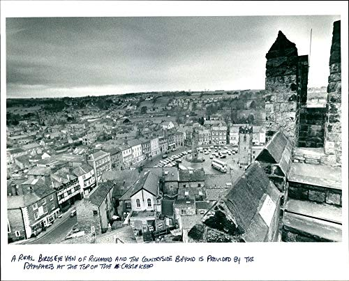 Real Photo View Birdseye - Vintage photo of A real birds eye view of Richmond.