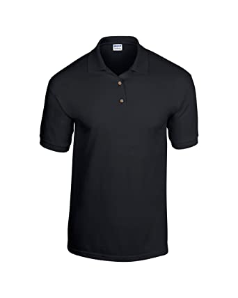 Gildan Dry Blend Jersey Knit Polo Black 2XL: Amazon.es: Ropa y ...