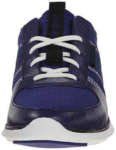 Zapatillas De Deporte Zerogrand Fashion De Cole Haan Para Mujer Bristol Neopreno Azul Perforado / Astral Blue / Black Suede