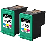 Valuetoner Remanufactured Ink Cartridge Replacement For Hewlett Packard HP 95 CD886FN C8766WN (2 Tri-Color) 2 Pack Compatible With Deskjet 460 5740 5745 5748 5940 6520 6620 6830 6840 9800 Officejet 100 150 6200 6301 7210 7310 7408 7410 H470 Photosmart 2570 2605 2613 2710 320 330 370 375 385 420 422 425 428 475 7850 8030 8049 8050 8053 8150 8400 8450 8750 B8300 C4100 C4110 C4140 C4150 C4180 C4183 C4188 D5060 D5065 D5069 D5100 D5145 D5155 D5160 PSC 1600 2350 2355 A10 Printing Mailbox Printer