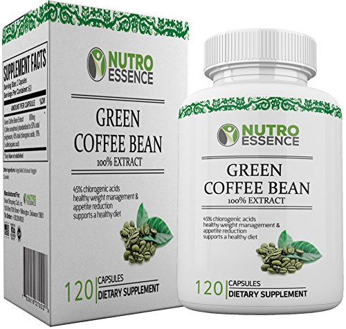 Green Coffee Bean Extract 100% Pure Extracts Capsules with 45% Chlorogenic acid - Effective Supplement for Weight Loss, Antioxidants, Fat Burner and Appetite Suppressant for Men & Women (Naturabest Green Coffee Bean compare prices)