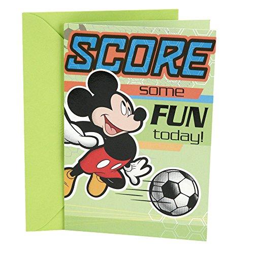 Hallmark Birthday Greeting Card for Kids (Soccer Mickey (Disney Stock For Kids)