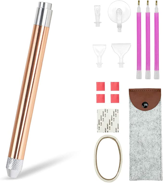 3-Head Creative Diamond Painting Tool Point Drill Pen Lighting Diamond 5D Painting Crafts Tools Crystal Cross Stitch Embroidery Supplies