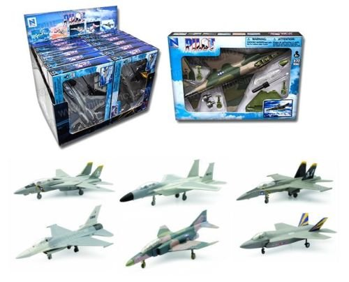 NEW 1:48 NEW RAY SKY PILOT COLLECTION - PILOT MODEL KIT FIGHTER PLANE ASSORTMENT Model By NEW RAY TOYS Set of 6 - Ray Models New Airplane