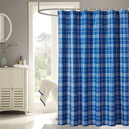 Harper Lane 13pc Fabric Shower Curtain, Plaid 72
