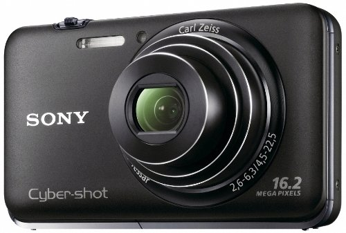 Sony Cyber-Shot DSC-WX9 16.2 MP Exmor R CMOS Digital Still Camera with Carl Zeiss Vario-Tessar 5x Wide-Angle Optical Zoom Lens and Full HD 1080/60i Video (Black)