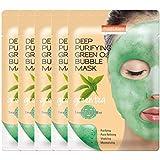 PUREDERM Deep Purifying Green O2 Bubble Mask 0.88oz x 5ea / Korean beauty/Bubble mask/Cleansing foam/Cleanser/Purifying mask/