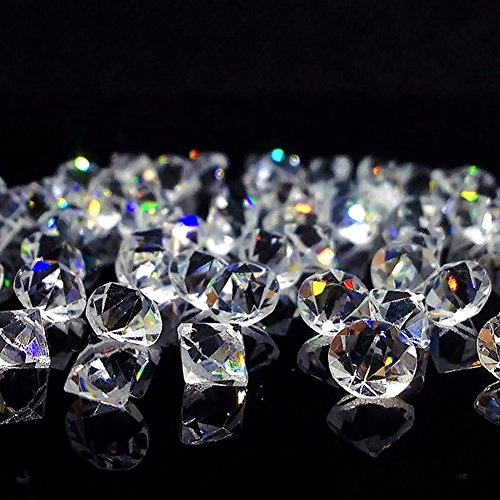 HansGo 500PCS Clear Glass Diamond Gems Jewels Pirate Treasure for Table Centerpiece Decorations Wedding Decorations Bridal Shower Decorations Chest Hunt Party Favors by by HansGo