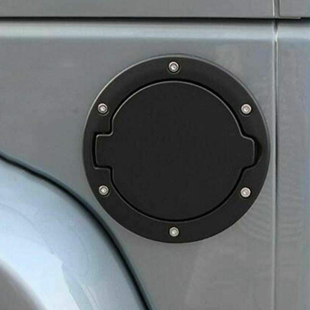 Black Gas Cap Cover Fuel Tank Cap Replacement for 2007-2017 Wrangler JK JKU Sport Rubicon Sahara Unlimited Accessores
