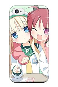 Iphone High Quality Tpu Case/ Headphones Blondes Tails Blue Heads Nekomimi Animal Ears Twintails Blush Open Mouth Wink Pink Green Peroodatofu Watora Pepepe PjbJppG12573IyqYz Case Cover For Iphone 4/4s