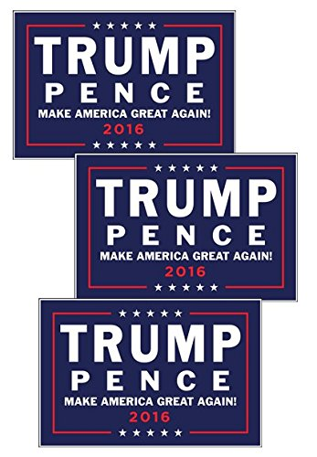 Donald Trump Mike Pence 2016 Republican Campaign Rally Sign Posters Set of THREE (Rally Sign)