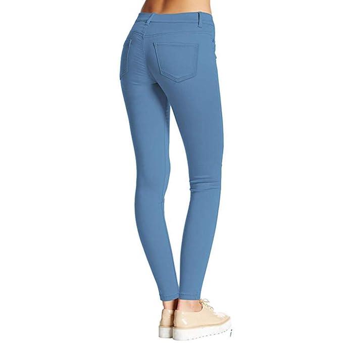 cinnamou Pantalones Mujer, Pantalones Mujer Cintura Alta ...