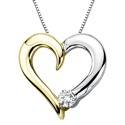 Diamond Heart Pendant with Cha